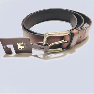 NWT Frye Mens Leather Brown Belt - Authentic 38 40